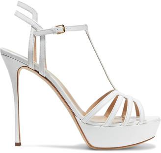 Sergio Rossi Ines Cutout Patent-leather Platform Sandals