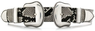 B-Low the Belt snakeskin print belt