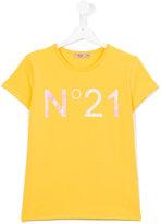 No21 Kids - logo print T-shirt - kids - Cotton/Spandex/Elastane - 15 yrs