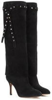 Valentino Garavani Embellished suede knee-high boots