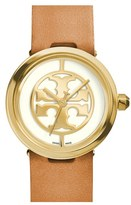 Tory Burch Women's 'Reva' Logo Dial Leather Strap Watch, 28Mm