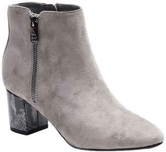 Bandolino Side Zip Block Heel Booties - Lila
