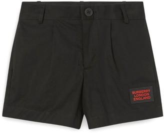 Burberry Kids Cotton Logo Patch Shorts