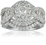 JCPenney FINE JEWELRY LIMITED QUANTITIES 2 CT. T.W. Diamond 14K White Gold Bridal Ring Set