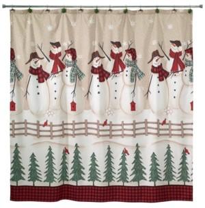 Avanti Snowman Gathering Shower Curtain Bedding