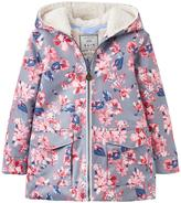 Joules Girls Floral Raindrop Waterproof Coat