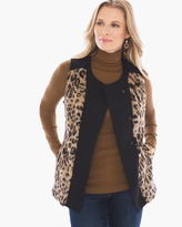 Chico's Animal Pieced Faux-Fur Vest