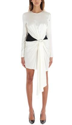 Alexandre Vauthier Buckle Detail Draped Dress