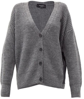 Rochas Side-ties Cable-knit Cardigan - Light Grey