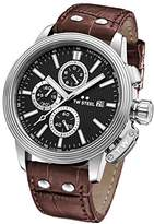 TW Steel 'CEO Adesso' Quartz Stainless Steel Casual Watch, Color:Brown (Model: CE7005)