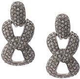 Oscar de la Renta Pave Chain Earrings