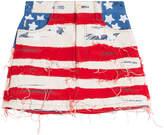Marc Jacobs American Flag Denim Mini Skirt