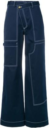 Monse Wide Leg Bootcut Trousers