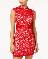 B. Darlin Juniors' Lace Illusion Bodycon Dress, A Macy's Exclusive Color