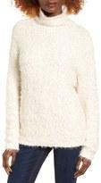 BP Women's Fluffy Knit Mock Neck Pullover