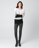 Le Château Stripe Viscose Blend Crew Neck Sweater