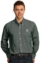 Antigua Men's Michigan State Spartans Monarch Plaid Button-Down Shirt