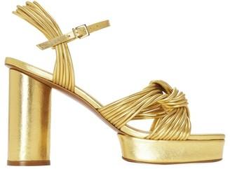 Mercedes Castillo Calisse Metallic Leather Platform Sandals