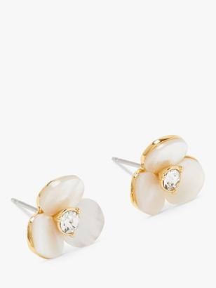 Kate Spade Disco Pansy Flower Stud Earrings, Clear