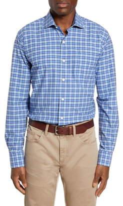 Peter Millar Crown Finish Sandpoint Regular Fit Plaid Button-Up Shirt