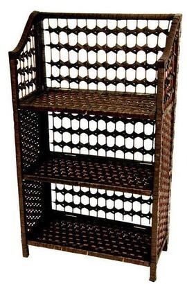 "Oriental Furniture Handmade 33"" Natural Fiber Shelving Unit"
