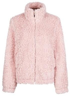 Dorothy Perkins Womens Tall Blush Short Teddy Coat