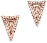 Bloomingdale's Diamond Triangle Earrings in 14K Rose Gold, .15 ct. t.w.