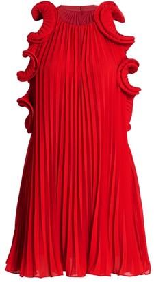 AMUR Mimi Ruffled Mini Dress