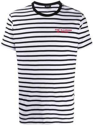 Diesel Striped Cotton T-Shirt