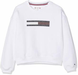 Tommy Hilfiger Girl's Lurex Flag Slouchy Sweatshirt