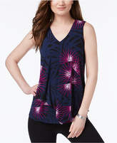 Alfani Pleated Popover Top, Created for Macy's