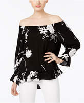 INC International Concepts Embrodiered Off-The-Shoulder Top, Only at Macy's