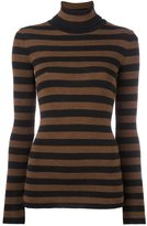 Laneus striped roll neck jumper