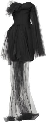 Maticevski Evermore Asymmetric Tulle Mini Dress