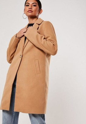Missguided Tall Camel Ultimate Formal Coat