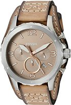 Fossil Men's JR1518 Nate Chronograph Light Brown Leather Watch