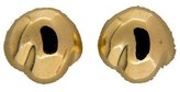 Tiffany & Co. 18K Yellow Gold Solid Peretti Simple Domed Earrings