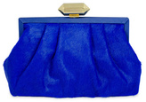 Badgley Mischka Handbags Cobalt Miriam Pony Clutch