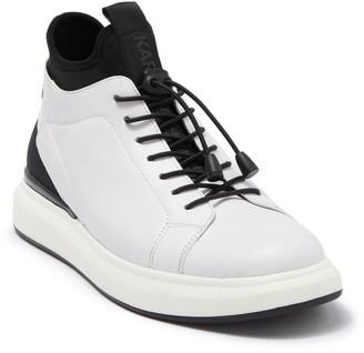 Karl Lagerfeld Paris Leather High-Top Sneaker