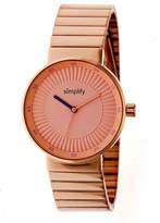 Simplify The 4600 Unisex Rose Goldtone Bracelet Watch-Sim4604