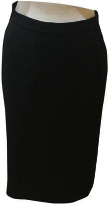 Loewe Black Wool Skirt for Women Vintage
