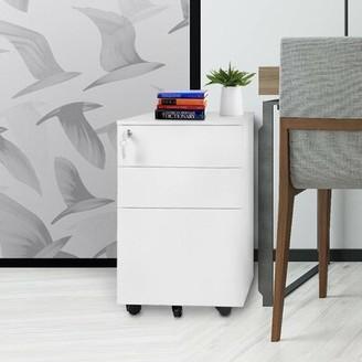 Latitude Run Lemi 3-Drawer Mobile Vertical Filing Cabinet