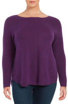 Lord & Taylor Plus Cashmere Knit Sweater