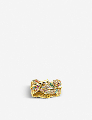 Thomas Sabo Magic Garden yellow gold-plated sterling silver and glass-ceramic stones ring