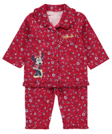 Disney George Minnie Mouse Woven Pyjama Shirt and Bottoms