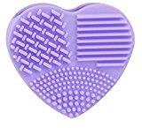 DZT1968 Silicone Fashion Egg Cleaning Glove Makeup Washing Brush Scrubber Tool Cleaners (Purple)