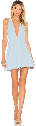 superdown Sammie Deep V Skater Dress