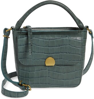 Madewell The Mini Abroad Crossbody Bag: Croc Embossed Leather Edition