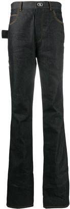 Bottega Veneta Contrast-Stitch Straight-Leg Jeans