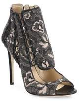 Jimmy Choo Kia 110 Cutout Lace Peep Toe Pumps